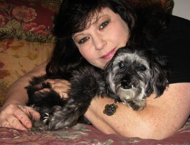 Barbara and Muffin the dog