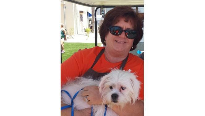Kym Burns with her dog