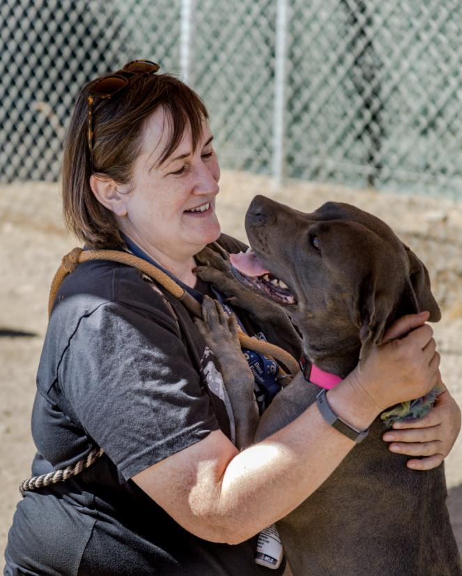 Susan B with dog