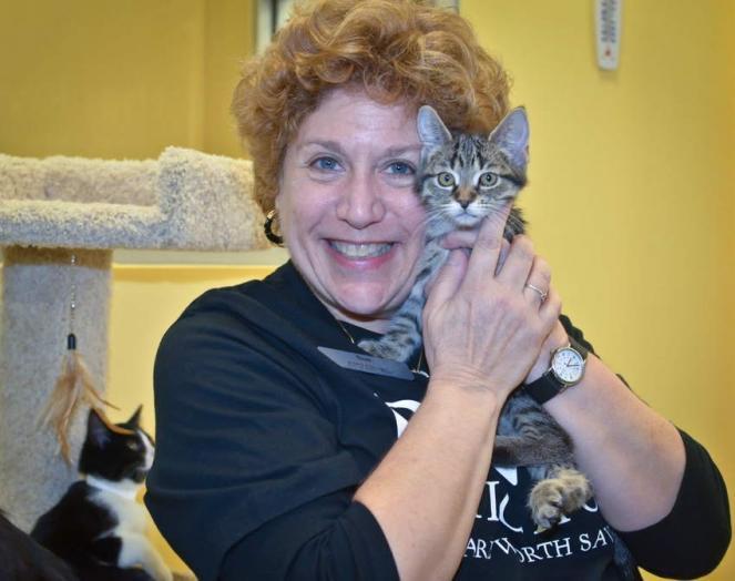 Sue T. with kitten