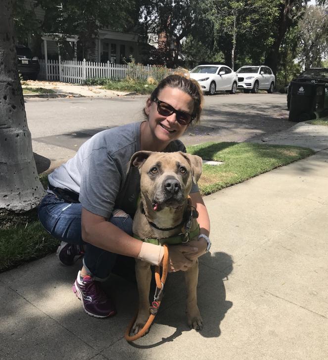 Kristen Hirsch with dog