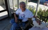 Dick J, the honorary cat caregiver volunteer