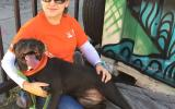 Volunteer Stephanie N. with her dog