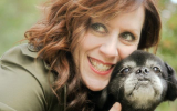 Michelle C. with a dog