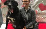 Volunteer Michelle Pratt with her dog