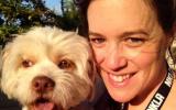 Sara Mayer with a dog